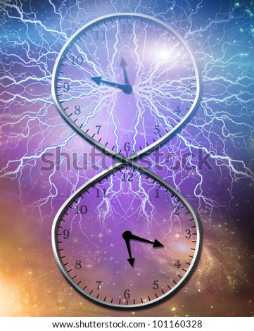 Eternal Time - stock photo