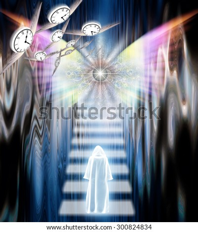 Eternity passes away in symbolic composition - stock photo
