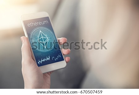 Ethereum Crystal Symbol On Mobile App Stock Photo Edit Now