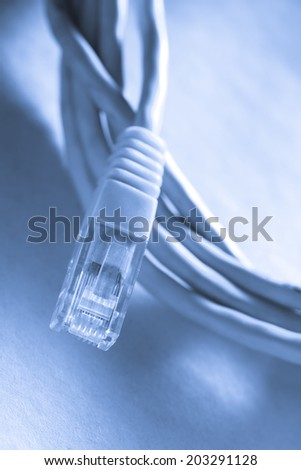 Ethernet cable for computer in toning