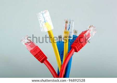 Ethernet network cables - stock photo