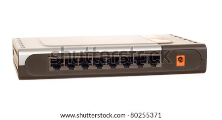 Ethernet switch isolated on the white background
