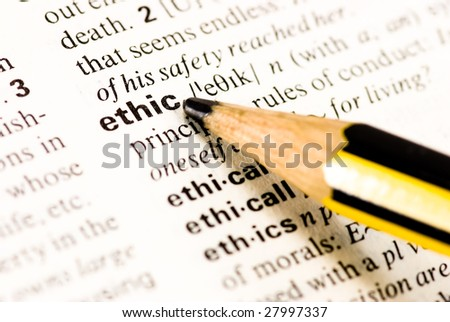 ethic dictionary word - stock photo
