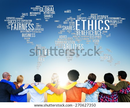 Ethics Ideals Principles Morals Standards Concept - stock photo