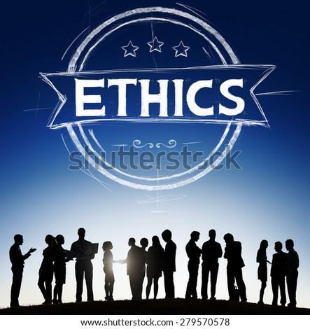 Ethics Integrity Fairness Ideals Behavior Values Concept - stock photo