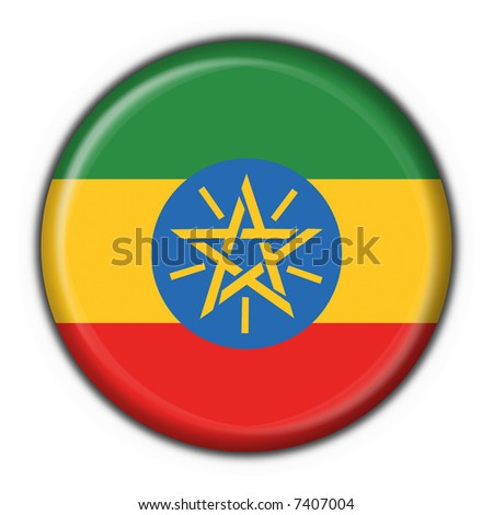 ethiopia button flag round shape