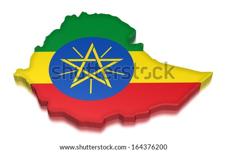 Ethiopia (clipping path included) - stock photo