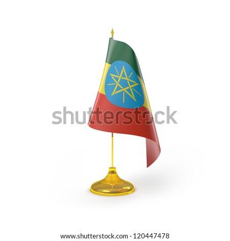 Ethiopia Flag Detail Render - stock photo