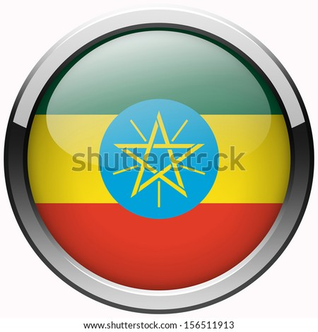 ethiopia flag gel metal button