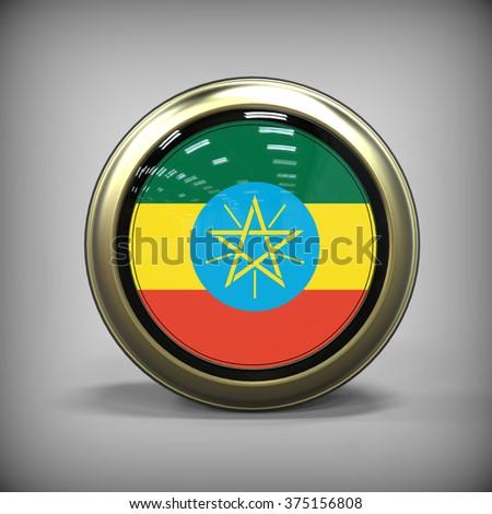 Ethiopia icon - stock photo