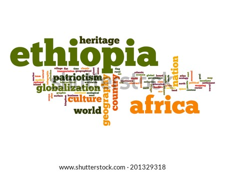 Ethiopia word cloud - stock photo