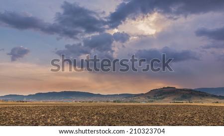 Ethiopian rural landscape - stock photo