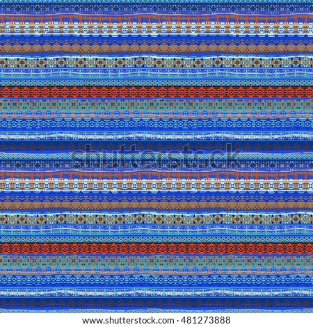 Ethnic boho seamless pattern. Tribal art print, border ornament. Background texture, decoration