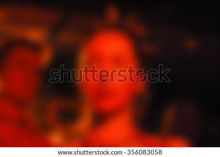 Ethnic drum band concert theme creative abstract blur background with bokeh effect - stock photo