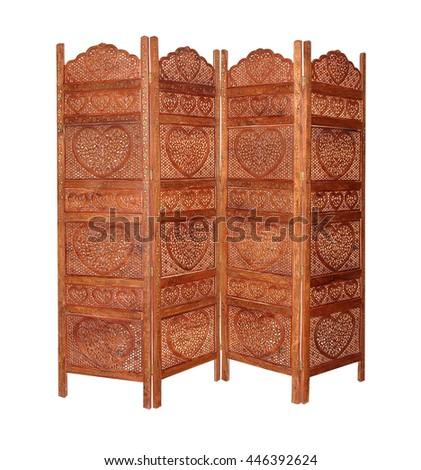 Ethnic Indian folding screen - stock photo