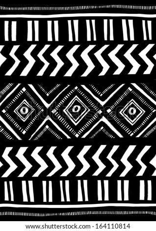 Ethnic pattern - stock photo
