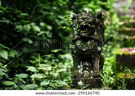 ethnic religion hindu monument in green plants. Buddhism  - stock photo