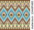 Ethnic seamless fashion pattern background - stock vector