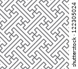 Ethnic seamless pattern of gray lines - stock photo