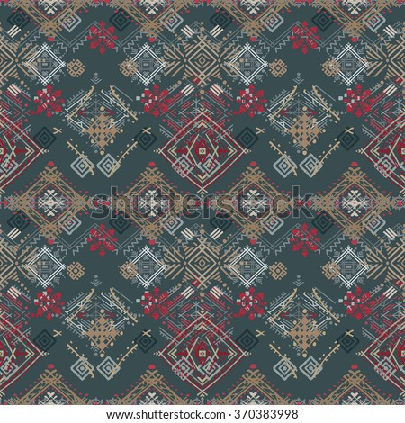 Ethnic seamless pattern. Tribal art print. Boho texture. Cloth design, wallpaper, wrapping