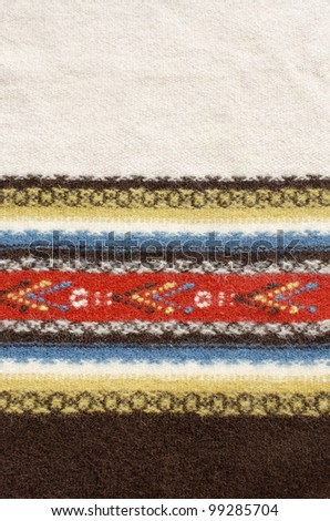 Ethnic, traditional, retro, texture rug with space for words. - stock photo