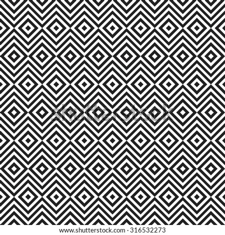 Ethnic tribal zig zag and rhombus seamless pattern.  illustration for beauty fashion design. Black white colors. Vintage stripe style.