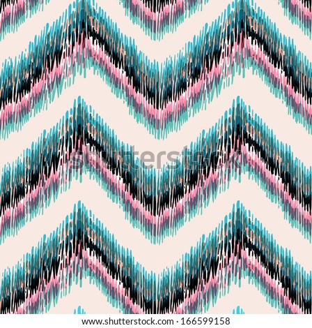 Ethnic Zigzag Allover Print - stock photo