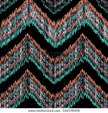Ethnic zigzag pattern - stock photo