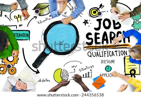 Ethnicity Business People Meeting Job Search Planning Concept - stock photo