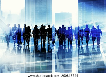 Ethnicity Business People Professional Occupation Office Concept - stock photo