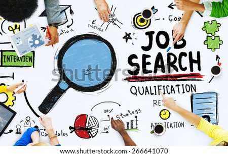Ethnicity People Discussion Job Search Teamwork Concept - stock photo