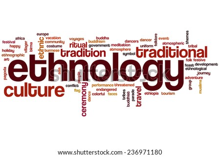 Ethnology word cloud concept - stock photo