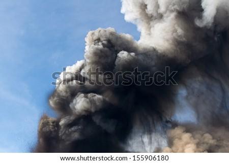 Etna eruption April 2012  - stock photo
