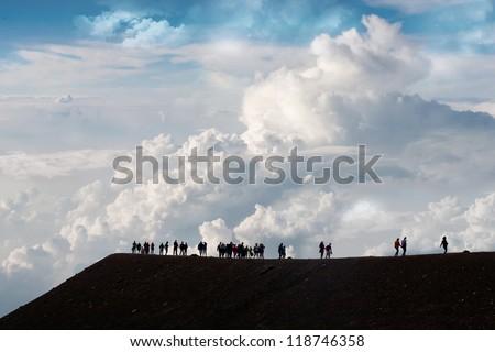 etna like mars - stock photo