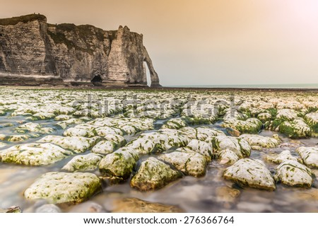 Etretat in Normandy France - stock photo