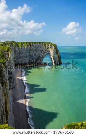 Etretat Normandie France - stock photo
