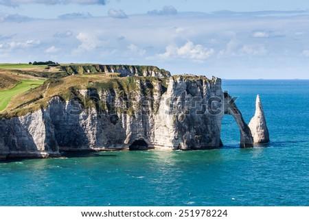 Etretat, Normandy, France - stock photo