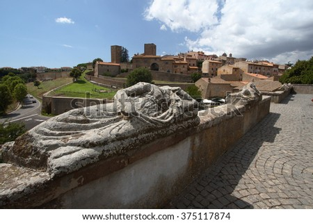 etruscan city tarquinia - stock photo