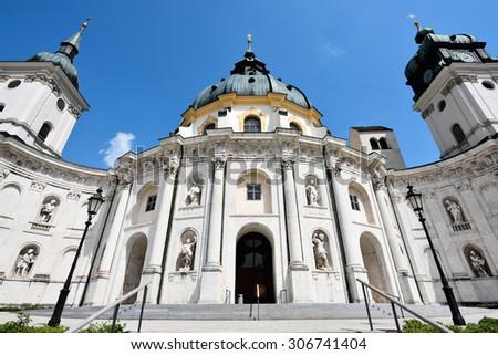 Ettal Abbey, Germany - stock photo