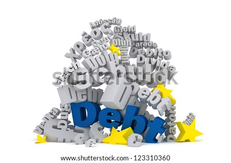 EU Debt - stock photo