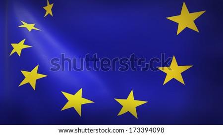 EU European union flag - stock photo