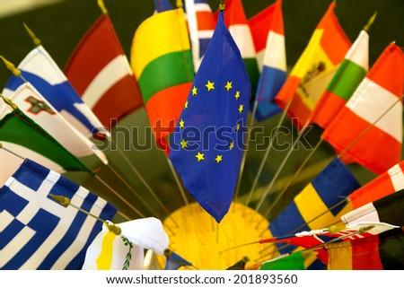 EU flag - stock photo
