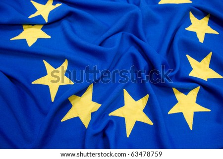 EU Flag Close Up