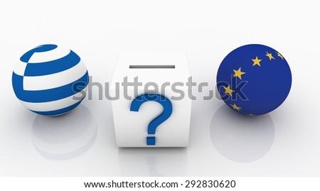 EU-Greece Election,Eurozone,economy crisis - stock photo