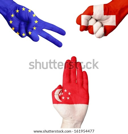 EU Switzerland Singapore rock-paper-scissors
