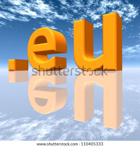 EU Top Level Domain Computer generated 3D illustration