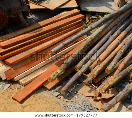Eucalyptus wood and wood for use in building construction.