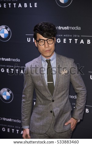 Eugene Lee Yang arrives at Unforgettable Gala  December 10, 2016 in Beverly Hilton, Beverly Hills, California.