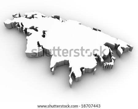 Eurasia. 3d - stock photo