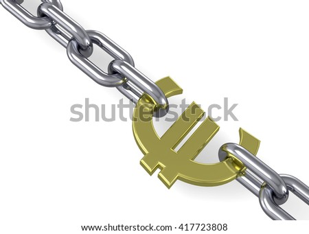 Euro and Chain - 3D